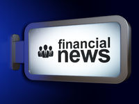 News concept: Financial News and Business People on billboard background