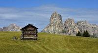 Sassongher in der Puezgruppe; Dolomiten; Suedtirol;