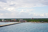 Coastline of Costa Maya