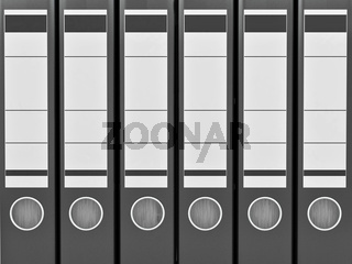 Archive. Many folders on white isolated background. 3d