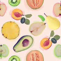 seamless   pattern with fresh fruits