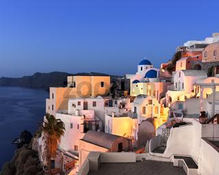 Oia Village in the Morning, Santorini, Greece