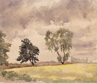 Brandenburger Landschaft, Aquarell