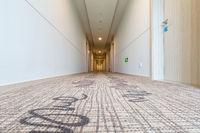 hotel corridor with carpet