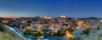 Panorama von Toledo bei Nacht
