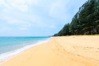 Deserted tropical sandy beach