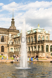Historic Zwinger palace in Dresden