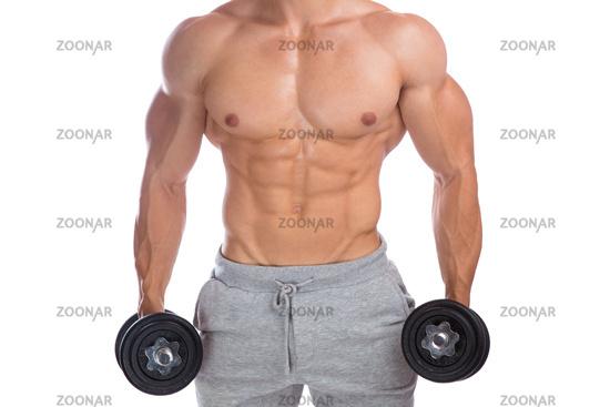 Foto Bodybuilder Bodybuilding Muskeln Oberkörper Training ...