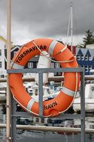 Lifering in port area of Torshavn, Faroe Islands, Denmark