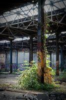 verfallene Fabrikhalle in einer verlassenen Fabrik