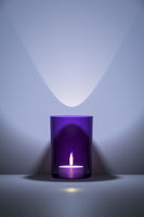 purple candle with space for your content