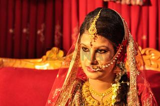 Woman during wedding in Bangladesh