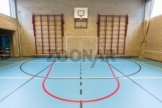 Empty dutch gymnasium for school sports
