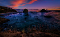 Colorful Northern California Sunset at the Beach