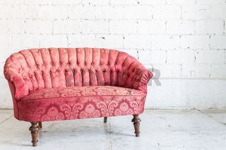 Red sofa couch