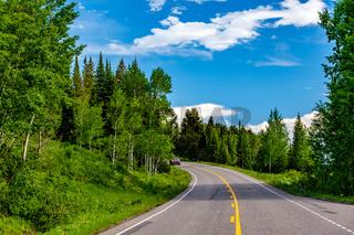 Highway in Grand Teton National Park