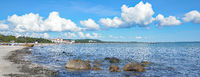 am Strand von Binz auf der Insel Ruegen,Ostsee,Mecklenburg-Vorpommern,Deutschland