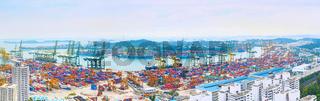 Singapore port overlooking