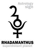 Astrology: planet RHADAMANTHUS