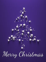 purple merry christmas tree