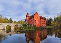 Castle Cervena Lhota in Czech Republic