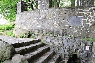 gefasste Quelle der Fulda auf der Wasserkuppe Rhön