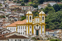 Ancient and historical church in the city of Ouro Preto