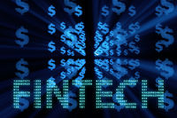 Fintech in financial technology concept