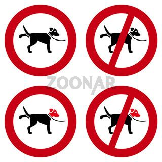 Hundeverbotschilder