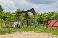 Oil well on a landscape