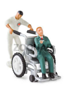 Toy wheelchair