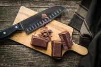 Chopped dark chocolate.