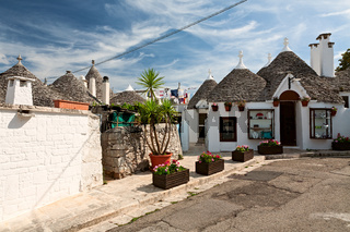 Traditional Trulli houses in Alberobello, Puglia, Italy