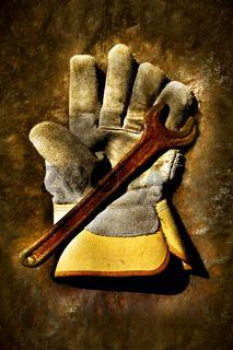 Used work gloves