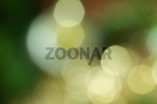 Yellow and green bokeh abstract lights background
