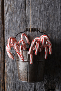 Bucket of Candy Canes