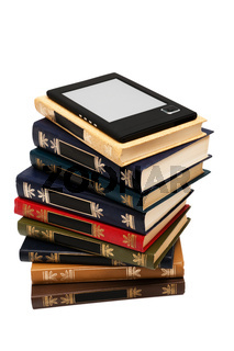 e-book and old books