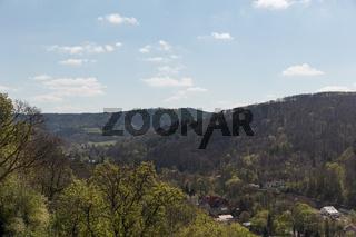 Ausblick auf das Harz Gebirge bei Wernigerode
