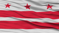 Closeup Washington DC City Flag, United States of America