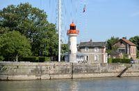 Leuchtturm in Honfleur, Normandie