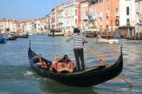 Die Gondel auf dem Canal Grande, Venedig