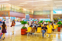 Changi Airport waiting hall, Singapore