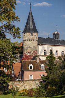 Hexenturm in der Altstadt von Bad Homburg vor der Höhe, Deutschland