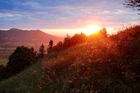 Sonnenuntergang in den bayerischen Alpen