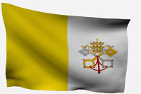 Vatican City 3d flag