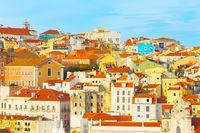 Lisbon Old Town skyline, Portugal