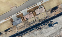 Drone Aerial View Cross Section of Home Construction Site