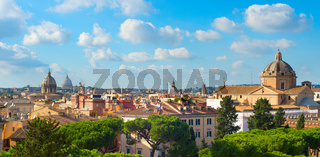 Rome Old Town panorama, Italy