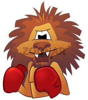 Lion boxer