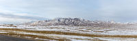 a panoramic view snow mountains on tibet plateau